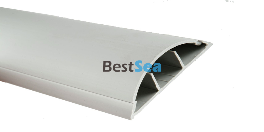Cable duct floor strip